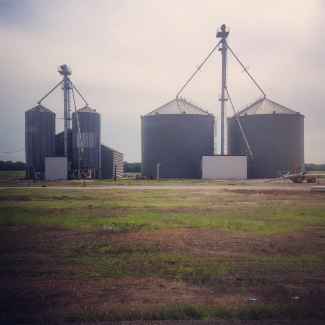 Grain silos in rural Texas