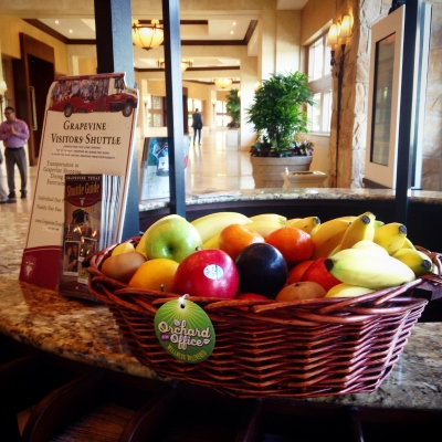 Fruit basket at the Grapevine Convention Center