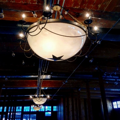 Lamps in the Cotton Mill in McKinney, Texas