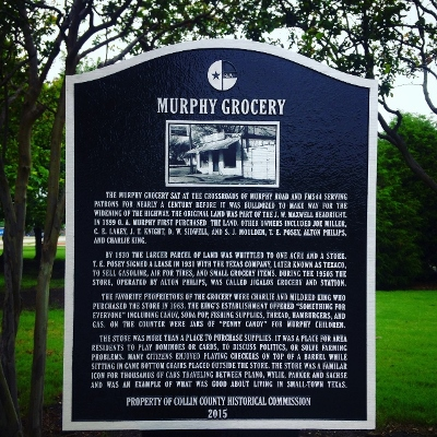 Historical marker in Murphy, Texas