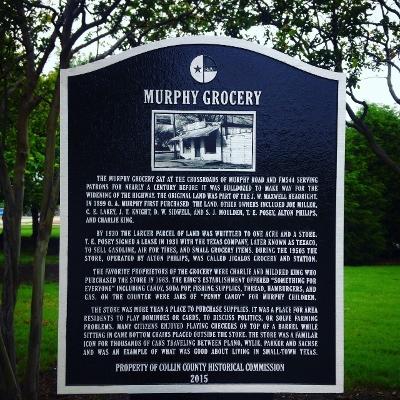 Historical marker in Murphy, Texas