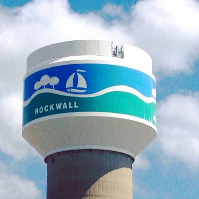 Water tower in Rockwall, Texas
