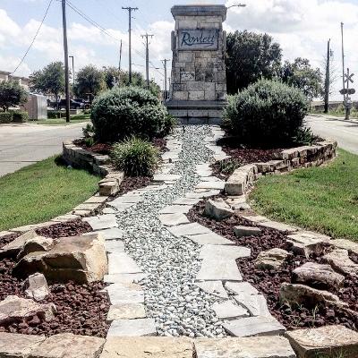 City limit sign for Rowlett, Texas